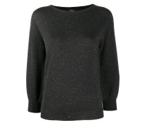 Pullover mit Metallic-Effekt