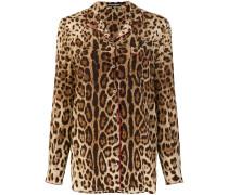Seidenhemd mit Leopardenmuster