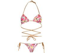 Miami floral bikini set