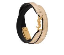 'Monogram' double wrap bracelet