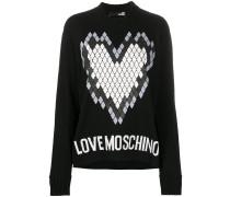 Oversized-Pullover mit Herz-Print
