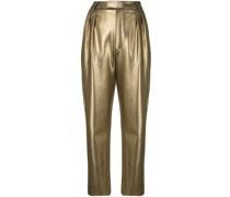 Taillenhose im Metallic-Look