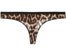 Tanga mit Leoparden-Print