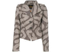 fitted patterned jacket