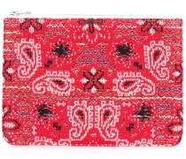 knit tweed bandana pouch