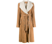 shearling-lined trench coat