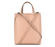 Pink Hex Mini Leather Tote Bag