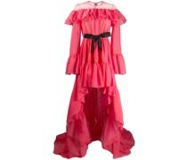 Asymmetrische Robe mit Volants