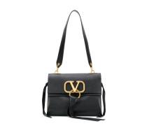 Handtasche mit goldfarbenem Logo