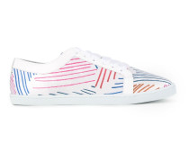 round toe printed sneakers
