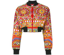mirror embroidered bomber jacket