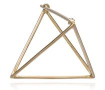 18kt Gelbgoldohrring in 3D-Triangel-Form