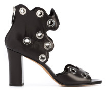 - eyelet zipped sandals - women