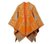 Gestricktes Cape mit B-Muster