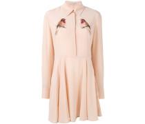 Hemdkleid mit Vogel-Patches - women - Seide - 40
