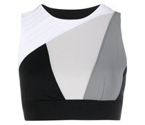 Cropped-Top in Colour-Block-Optik