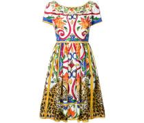 Majolica leopard print dress