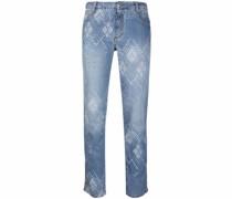Gerade Jeans mit Kontrastnähten