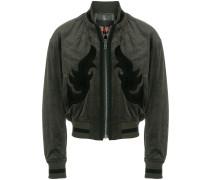 suede trim bomber jacket