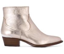 Stiefeletten im Metallic-Look - women - Leder