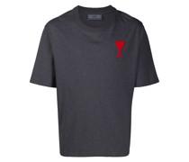 """T-Shirt mit """" de Cœur""""-Stickerei"""