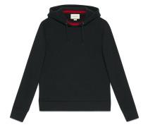 hooded sweatshirt with web