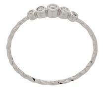 14kt 'Ally' Weißgoldring mit Diamanten