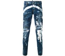 'Graffiti' Jeans in Distressed-Optik