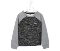 Sweatshirt mit Tweed-Akzenten