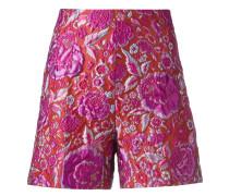 Jacquard-Shorts mit hohem Bund