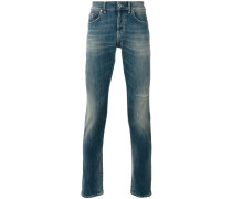 - Tapered-Jeans in Distressed-Optik - men