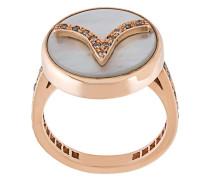 18kt 'Aries Lucky Zodiac' Goldring mit Diamanten