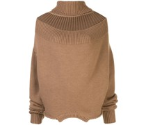 Rollkragenpullover mit Cut-Out