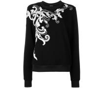 flower appliqué sweatshirt