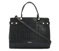 'Lady M' Handtasche mit Kroko-Effekt