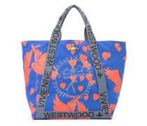 Oversized-Handtasche mit Vogel-Print - women