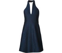 Texturiertes Neckholder-Kleid