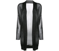 Semi-transparenter Cardigan mit Schalrevers