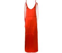 tie strap maxi shift dress