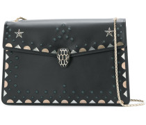 studded embroidered detail shoulder bag