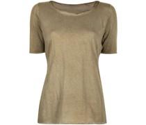 T-Shirt mit Kragen in Knitteroptik