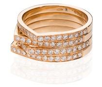 14kt 'Antifer' Rotgoldring mit Diamanten