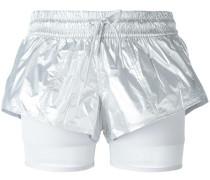 layered fitness shorts