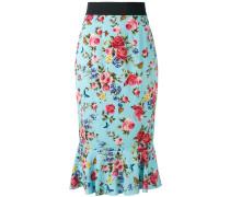 floral trumpet hem skirt - women