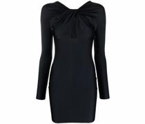 draped cut-out mini dress