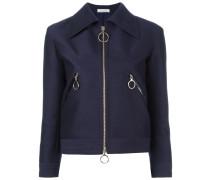 Jacke mit breitem Kragen - women - Wolle - 34