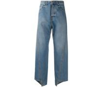 Asymmetrische Cropped-Jeans