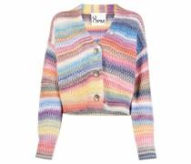 rainbow-stripe detail cardigan