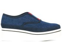 Flatform-Sneakers in Jeansoptik - women