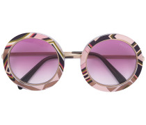 Runde Sonnenbrille - women - Acetat/Metall